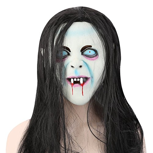 Bilder Von Ghost Kostüm - Fjiujin,Horror Latex Maske und Perücke Haar