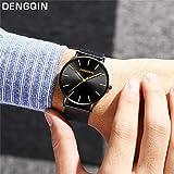 Altsommer Herren Business Quarz Uhr aus 2cm Edelstahl Mesh Armband Uhr,Armband mit Wasserdicht,Analog Quarzuhr Männer Lederar