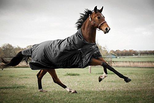 CATAGO Outdoordecke Justin für Pferde, 300g - schwarz - 155 cm