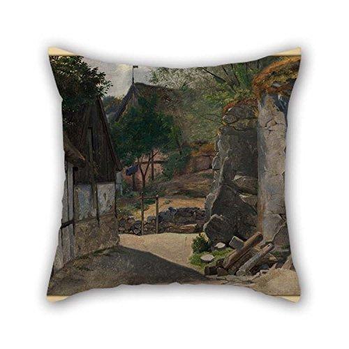 Kissenbezüge Otto haslund–View von gudhjem für Kinder BF Zeichnen Erwachsene Esszimmer Boden 50,8x 50,8cm/50von 50cm (je Seite)