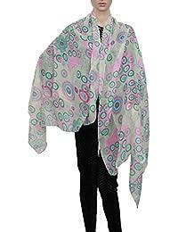 Jamaica Circle Print Large Scarf Ladies Scarves Womens Designer Scarf Sarong Christmas Scarf- SWANKYSWANS