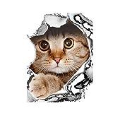 Bismarckbeer Niedliche Deko-Aufkleber für WC-Deckel oder Toilettenspülung, Motiv Katze oder Hund, Wandaufkleber, Heimdekoration, PVC, multi, #A