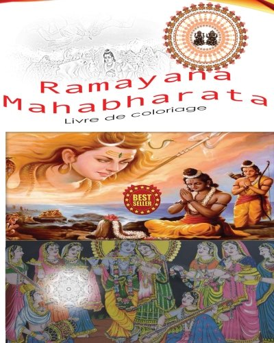 Ramayana Mahabharata Livre de coloriage par Livre de coloriage Sans stress conceptions Et les Mandalas