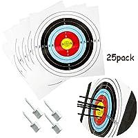 Junxing Tiro con arco 40cm/15.7inch 10-ring papel objetivo cara 25unidades