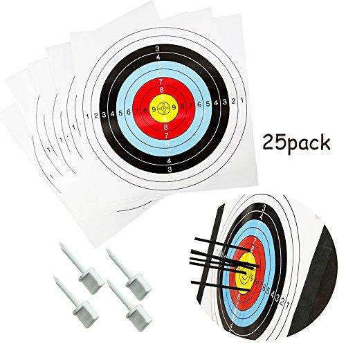 Zielscheibe Bogenschießen Set mit 25 Scheiben 4 Pins