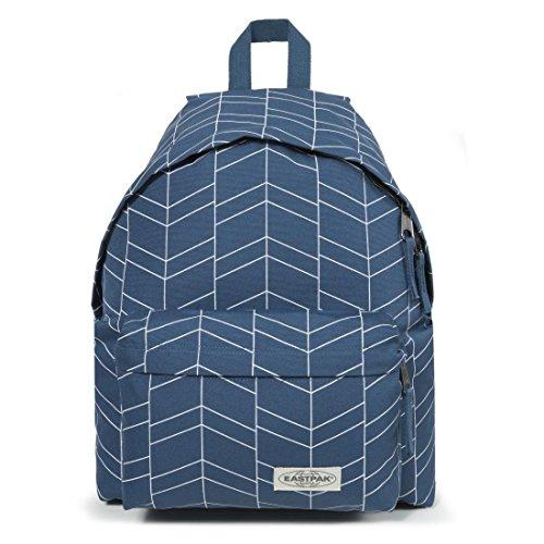 Eastpak Padded Pakr - Sac à dos Loisir - Bleu Imprimé Zigzag - Adultes - Enfants (Bleu Zigzag)