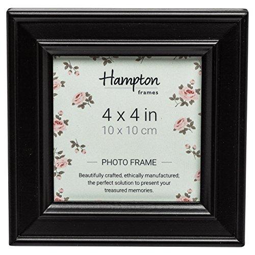 Hampton Frames Paloma quadratisch, Bilderrahmen, Holz,, schwarz, 14,5x 14,5x 2,5cm (11x11 Quadratische Bilderrahmen)