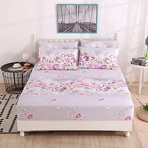 Hllhpc Für bettdecke Bett Rock Einteilige bettdecke Simmons schutzhülle einfache Student Bett Set Liebe Blume Meer - bettdecke 120 cm * 200 cm -