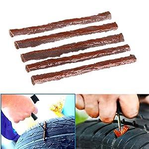 Leaftree - 1 Juego / 5 Piezas Car Tool Tubeless Tyre Seal Reparación Strip Plug Tire Puncture Cold Kit