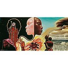 """Póster Miles Davis """"Portada del albúm Bitches Brew"""" (91,5cm x 45,5cm) + embalaje para regalo"""
