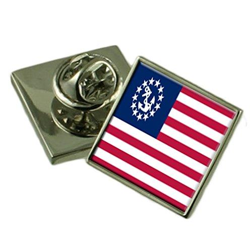 Yachtcharter, der Stern der USA-Flagge Ehrennadel graviert Box