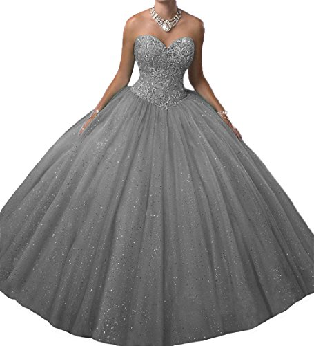 O.D.W Prinzessin A-Linie Bet?ubung Lange Quinceanera Party Kleider Formales Ballkleider S¨¹?e 15...