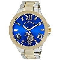 يو اس بولو اسن ساعة يد نسائية كاجوال من الكوارتز وخليط معدني، بألوان متعددة USC40227