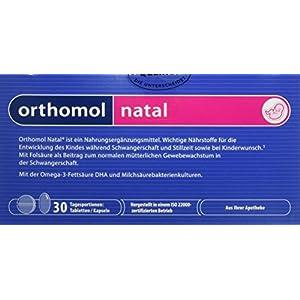 Orthomol natal 30er Tabletten & Kapseln – Folsäure Kombi für Frauen mit Kinderwunsch, in der Schwangerschaft & Stillzeit