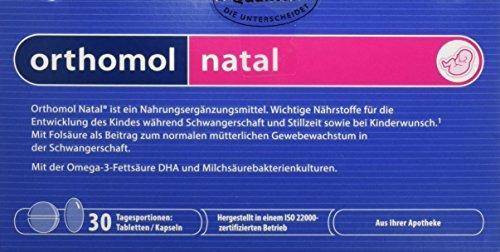 Orthomol natal 30er Tabletten & Kapseln - Folsäure Kombi für Frauen mit Kinderwunsch, in der Schwangerschaft & Stillzeit (Nur D Für Babys)