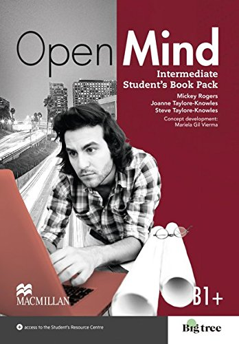 Intermediate: Open Mind. Student's Book with Webcode (incl. MP3) and Print-Workbook with Audio-CD + Key por Mickey Rogers