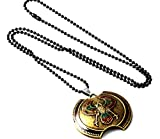 Halskette Halsanhänger antik gold bronze gothik Kette Halsschmuck Assassin's Creed Accessoires Design Schmuck Wappen Amulett Design Edel Neuheit