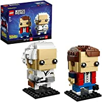 LEGO UK - 41611 BrickHeadz Marty McFly and Doc Brown Back to the Future Set (Exclusive to Amazon & LEGO)