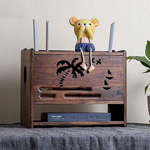 SjYsXm-Wand Bücherregal Regal Hölzern Aufbewahrungskiste Regal Halterung Halter Stand zum W-LAN Router TV-Box Set Top Box Streaming-Gerät Spielkonsole (Farbe : B) (Tv-wandhalterung W Dvd-halterung)