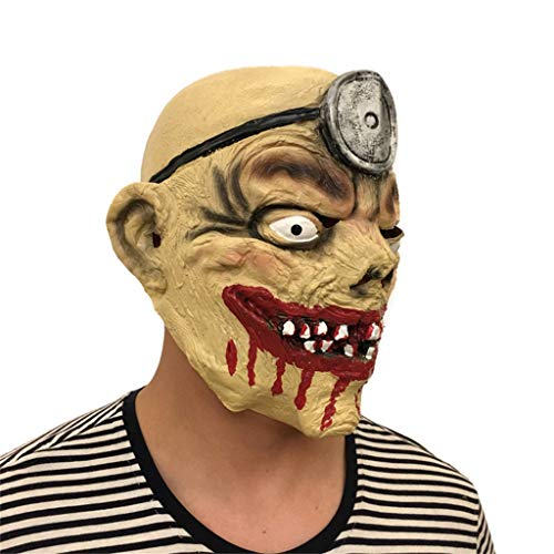 LYLLB-festival items Latex Bergmann Maske mit Halloween Party Kostüm