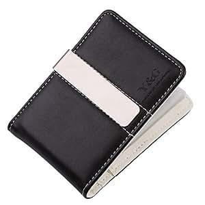 YCC1001 Blanc Noir Money Clip Porte-monnaie 15 titulaire de la carte des hommes par Y&G