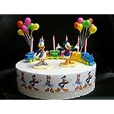 Disney DONALD and DAISY DUCK Birthday Cake Decoration Set