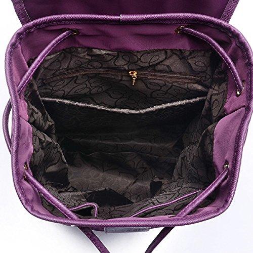 Art Und Weisedamen Nylon-Schulterbeutel Große Kapazität Bewegliche Zeichnung Mit Damenbeutel Black
