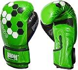 BOOM Prime Kinder Boxhandschuhe 4oz 6oz 8oz Maya Leder Sparring Boxsack MMA Muay Thai Training Punch Fausthandschuh Blau Grün - Grün, 8oz