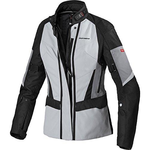 D190-010 3XL - Spidi Traveler 2 H2OUT Ladies Motorcycle Jacket 3XL Ice Black