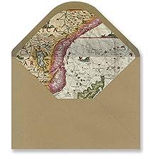 Sobres forrados invitaciones - KRAFT VINTAGE 229x162 mm. (varios modelos) (mapa antiguo-01)