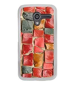 Rectangular Tiles Pattern 2D Hard Polycarbonate Designer Back Case Cover for Motorola Moto X :: Motorola Moto XT1052 XT1058 XT1053 XT1056 XT1060 XT1055