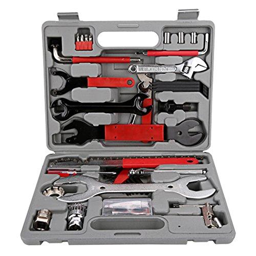 Buyi-World Fahrrad Werkzeugkoffer 44 tlg. Fahrrad Werkzeug Set mit Tragekoffer und Multitool für Fahrradreparatur