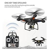 Bescita RC Quadcopter Drone avec 2.0MP Live Caméra vidéo 4piles Arms Pocket Mini Drone pliable pour les débutants 2.4G 6Axes de Headless Mode RTF Hélicoptère