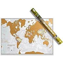 Rasca el Mundo - ¡Rasca los lugares a los que viajes! - detalles cartográficos -84,1cm (ancho) x 59,4(alto) cm