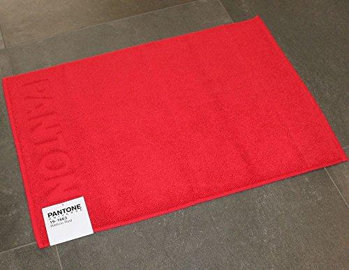 TAPPETO BAGNO PANTONE by BASSETTI 19-1663 RIBBON RED ROSSO CM 50 x 70 100% PURO COTONE