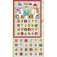 Makower Christmas Advent Calendar Panel - Make Your Own Advent Panel (Festive Advent Calendar Panel)