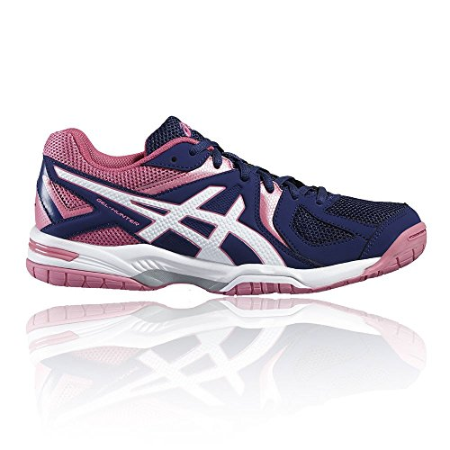 Asics Damen Gel-Hunter 3 Squash & Indoor Court Schuhe, Blau, 37 (Indoor Court Asics Schuhe)