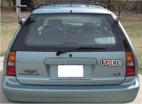 Buchstaben Hockey (Autoaufkleber / Aufkleber / JDM - Die cut / Sticker fürs Auto mit Herz - 15 cm - I LOVE ICE HOCKEY)