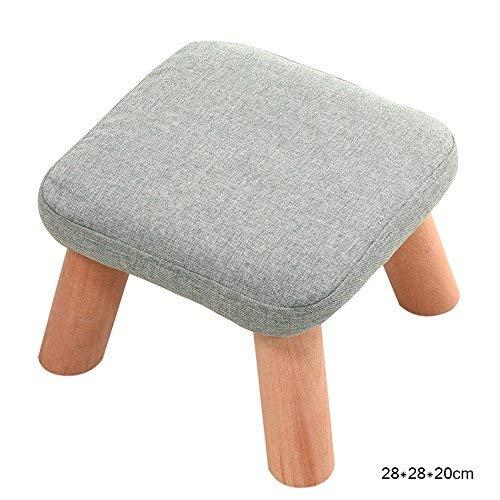 YZH Stilvolle Mode Stuhl/Hocker, Square 4 Holzbein gepolstert Fußhocker, Wohnzimmer/Rezeption/Beauty Salon/Friseur Mode Stuhl/Hocker,* 05 -