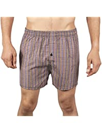 Neska Moda Men's Elasticated Cotton Multicolor Boxer With 1 Back Pocket-MP-XB1