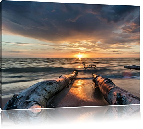 beach-effetto-olio-formato-100x70-su-tela-xxl-enormi-immagini-completamente-pagina-con-la-barella-st