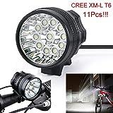 HCFKJ 28000LM 11 x CREE XM-L T6 LED 8 x 18650 Fahrrad Radfahren Licht wasserdichte Lampe
