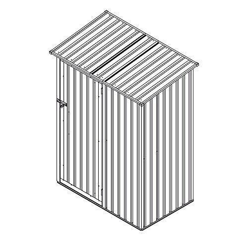 Geräteschrank Geräteschuppen Metall-Schrank Metall-Schuppen Garten-Schrank 130 cm x 80cm x 186 cm – Farbwahl (Grau / Anthrazit) - 5