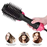 Coogel One Step Hair Dryer & Volumizer,Hot Air Brush Styler And Dryer 3-in-1 Negative Ion Straightener&Curly Brush Hair Dryer with Comb for all Hair Type with Anti-Scald Feature