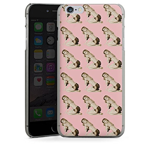 Apple iPhone X Silikon Hülle Case Schutzhülle Pinup Retro Rosa Hard Case anthrazit-klar