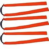 Mangobuy Ersatzband für Holzschleuder / Katapult / Jagdbänder, flach, elastisch, 10 Stück, Orange