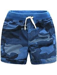 Ding-dong Enfant Garçon Eté Camouflage Coton Shorts
