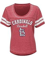 "St. Louis Cardinals Mujer Majestic MLB ""Loving el Juego Mezcla de"" Dual Camisa, MLB, color , tamaño XL"