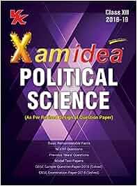 Xam Idea Political Science Class 12 for 2019 Exam English