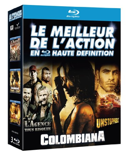 Coffret 3bluray : action agence tous risques - unstoppable - colombiana [Blu-ray] [FR Import] -